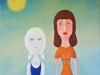 Woman & Girl_2011_acrylic on canvas_97x97cm_wm
