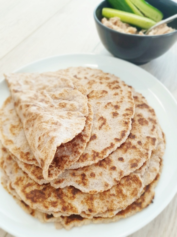 Psyllium and Almond Meal Flatbread - Gluten free | Vegan| Keto | Paleo