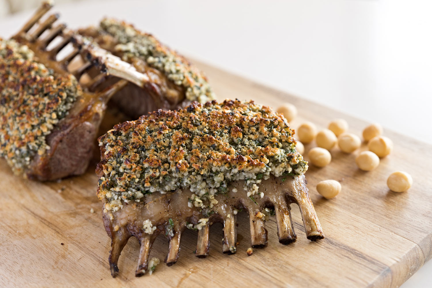 Macadamia and Herb crusted Rack of Lamb Recipe