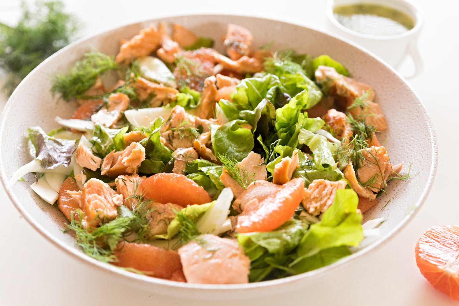 Gluten free and dairy free smoked trout salad