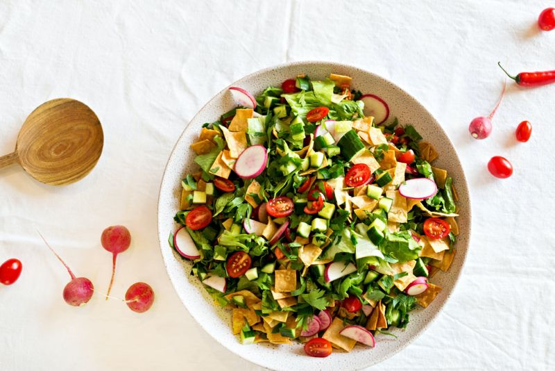 How to make fattoush salad