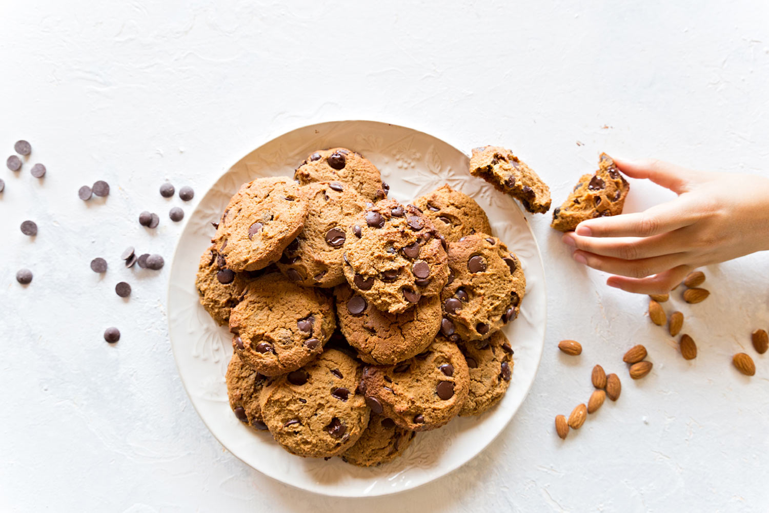Vegan choc chip cookies