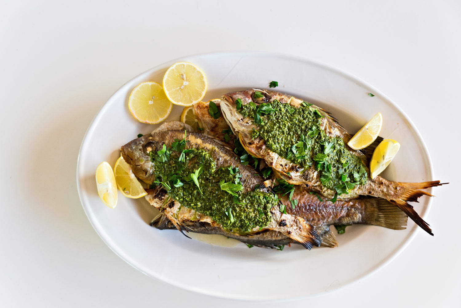 Barbecued Whole Snapper