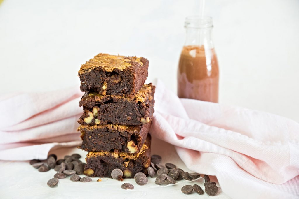 the best chocolate peanut butter brownie recipe